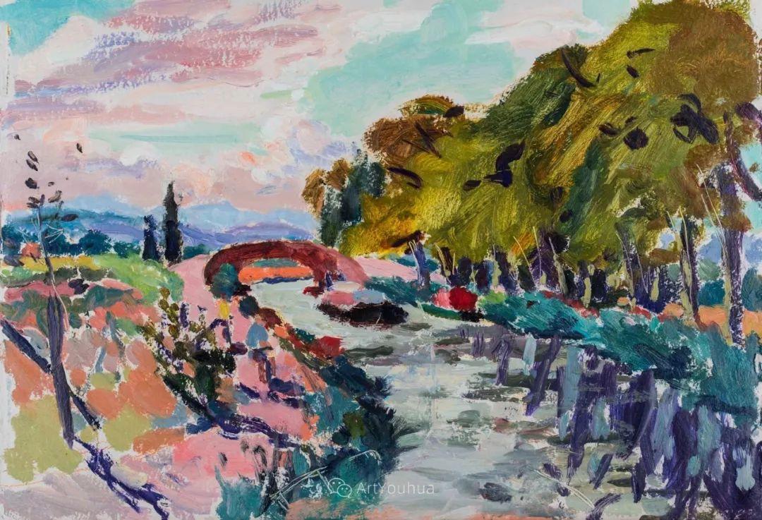 色彩和阳光的交响曲,英国著名浪漫主义画家:雨果·格伦维尔 150幅插图78