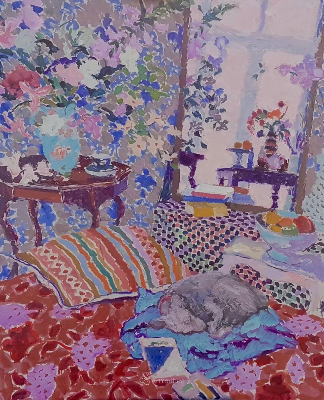 色彩和阳光的交响曲,英国著名浪漫主义画家:雨果·格伦维尔 150幅插图82