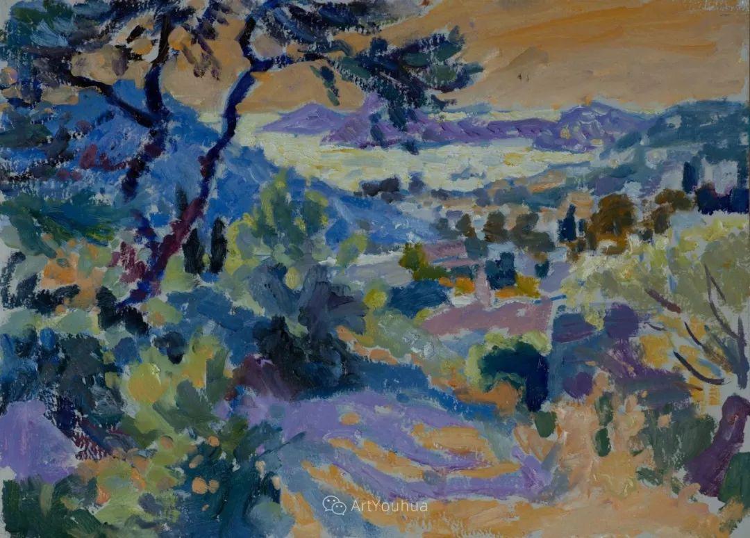 色彩和阳光的交响曲,英国著名浪漫主义画家:雨果·格伦维尔 150幅插图83