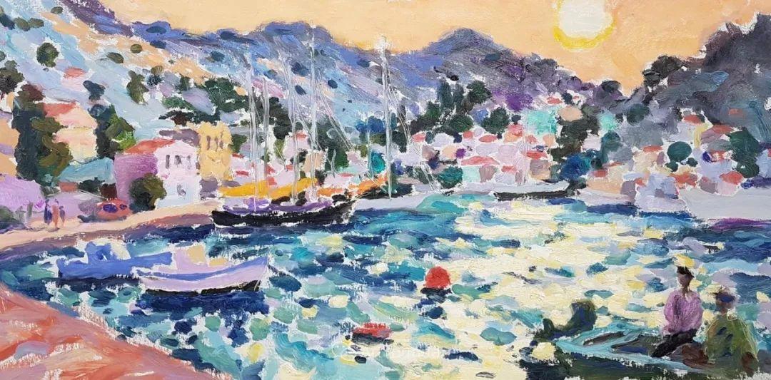 色彩和阳光的交响曲,英国著名浪漫主义画家:雨果·格伦维尔 150幅插图88