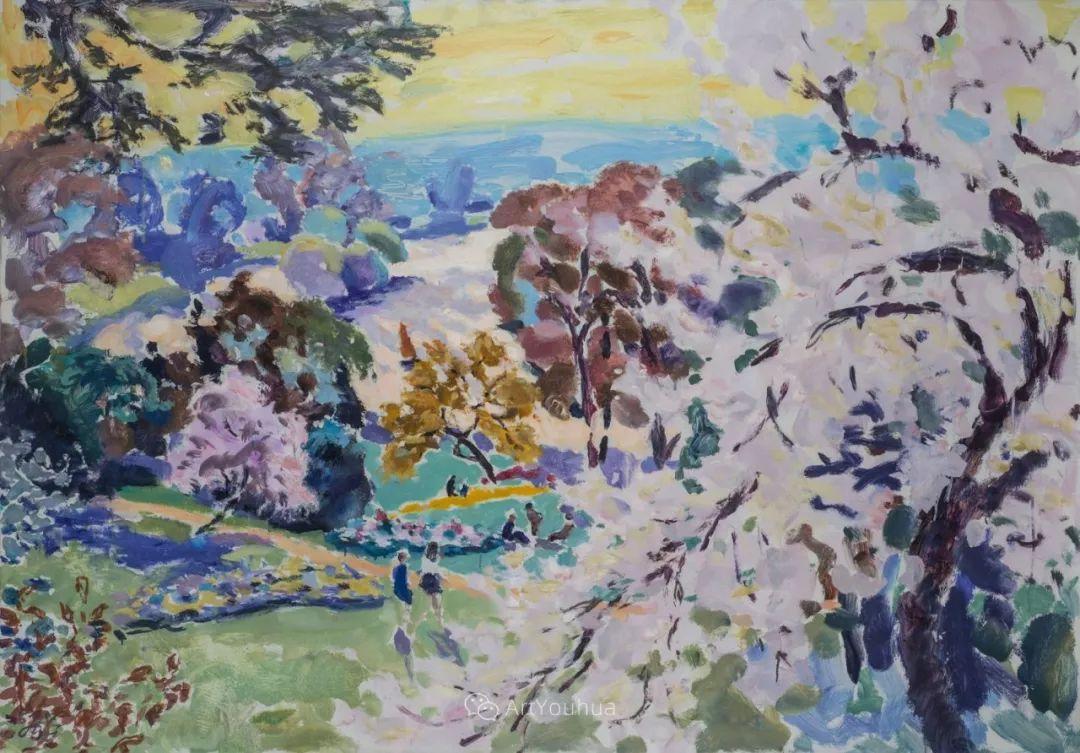 色彩和阳光的交响曲,英国著名浪漫主义画家:雨果·格伦维尔 150幅插图90