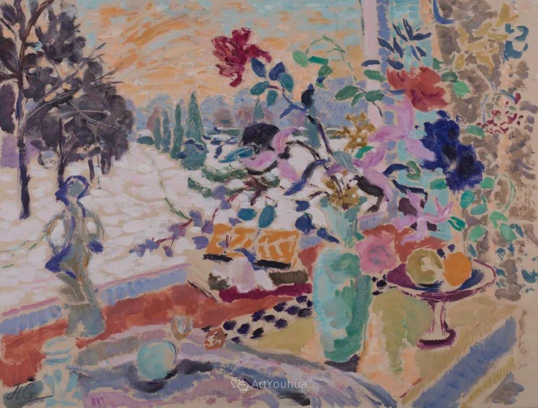 色彩和阳光的交响曲,英国著名浪漫主义画家:雨果·格伦维尔 150幅插图91
