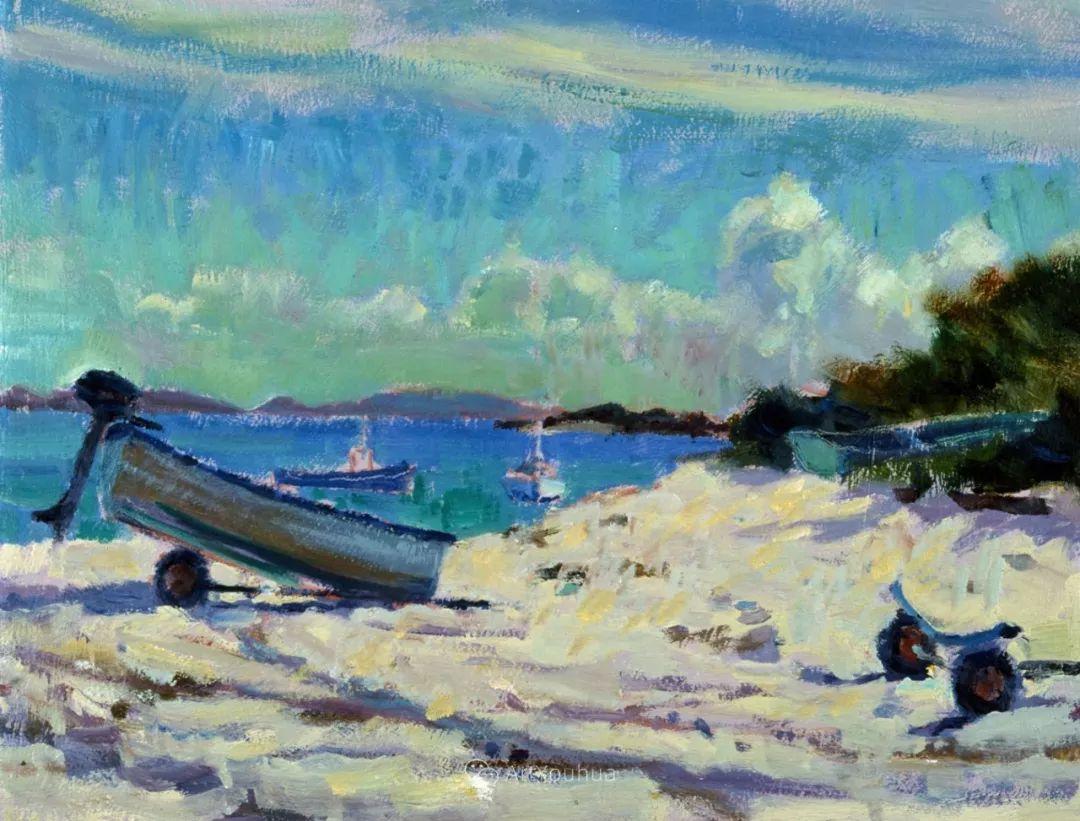 色彩和阳光的交响曲,英国著名浪漫主义画家:雨果·格伦维尔 150幅插图92