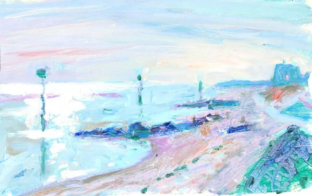 色彩和阳光的交响曲,英国著名浪漫主义画家:雨果·格伦维尔 150幅插图93
