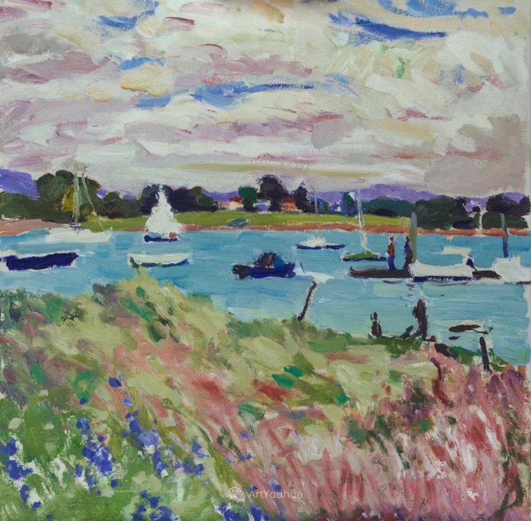 色彩和阳光的交响曲,英国著名浪漫主义画家:雨果·格伦维尔 150幅插图97