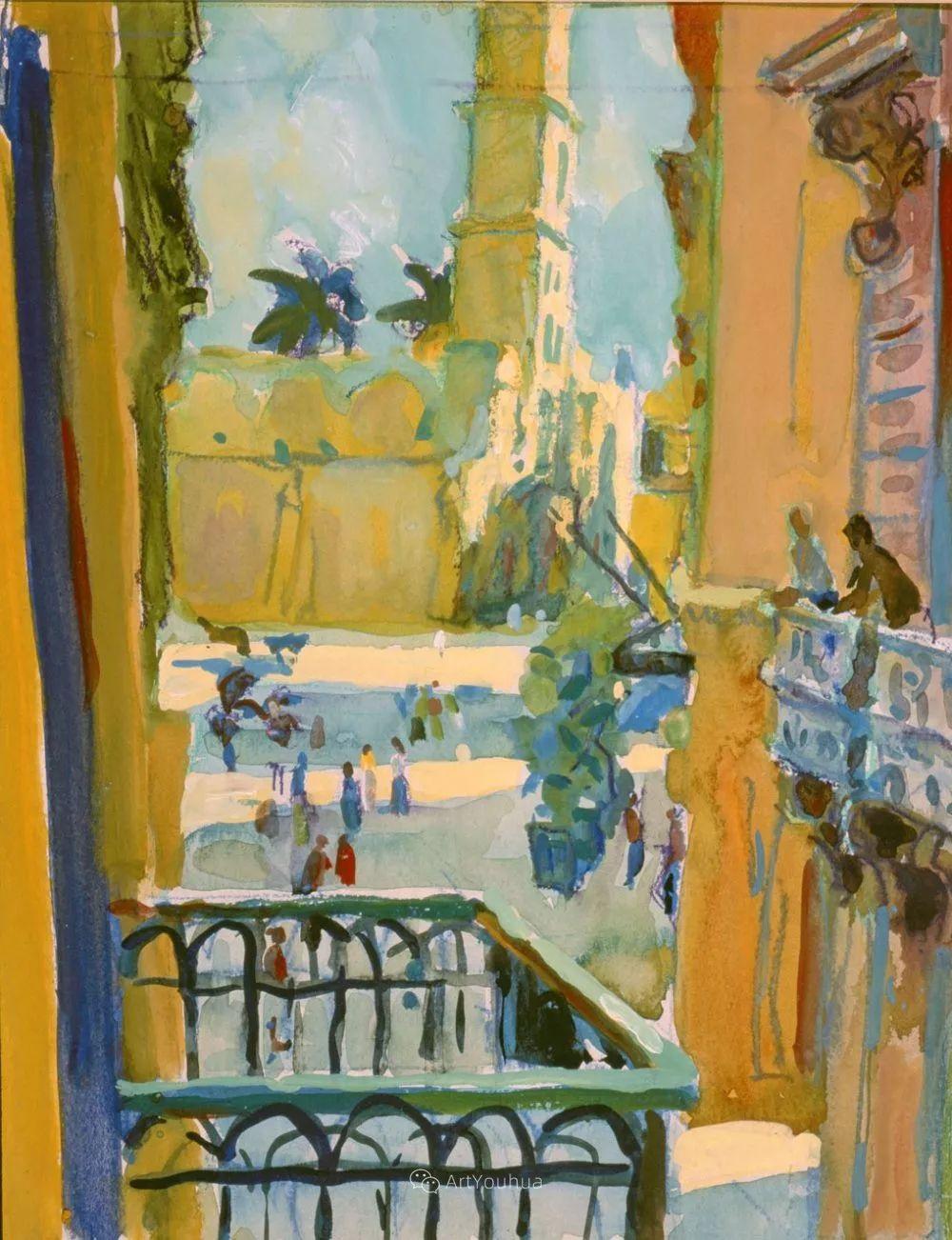 色彩和阳光的交响曲,英国著名浪漫主义画家:雨果·格伦维尔 150幅插图101