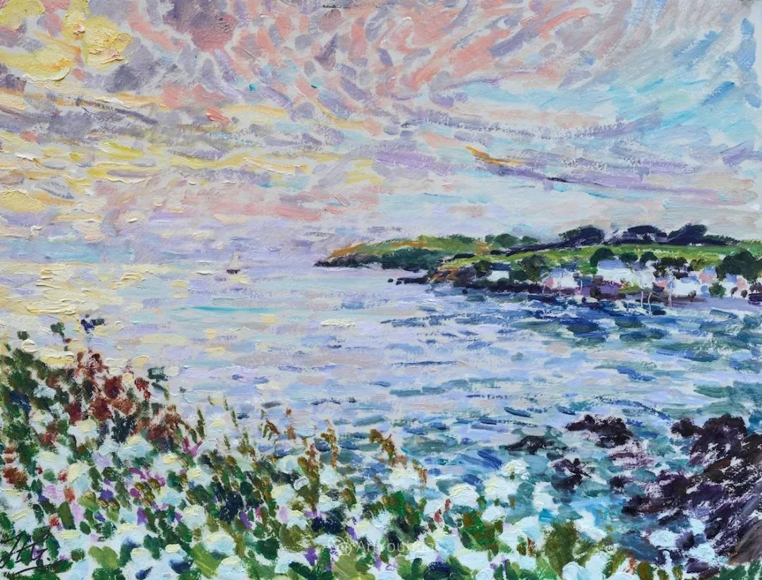 色彩和阳光的交响曲,英国著名浪漫主义画家:雨果·格伦维尔 150幅插图107