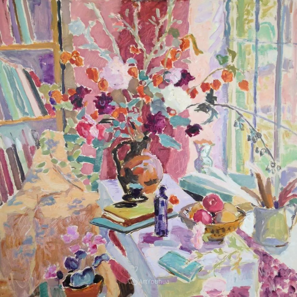 色彩和阳光的交响曲,英国著名浪漫主义画家:雨果·格伦维尔 150幅插图112