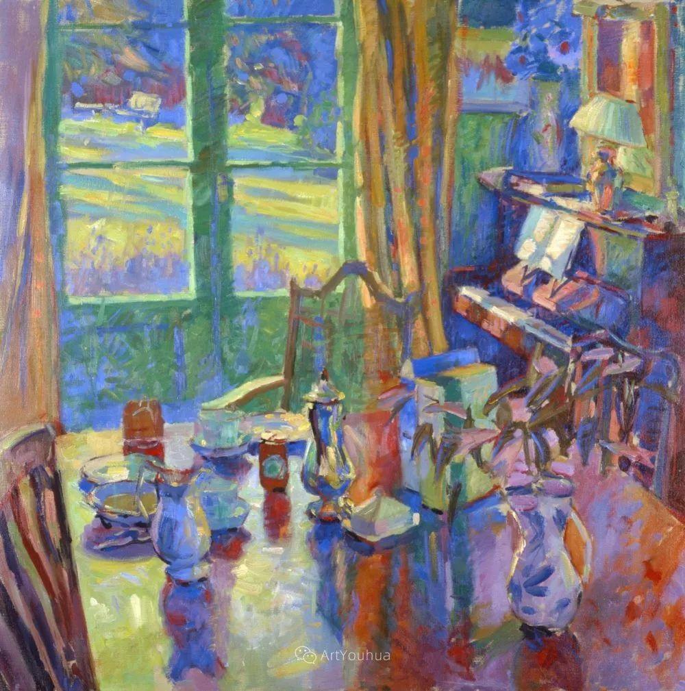 色彩和阳光的交响曲,英国著名浪漫主义画家:雨果·格伦维尔 150幅插图115