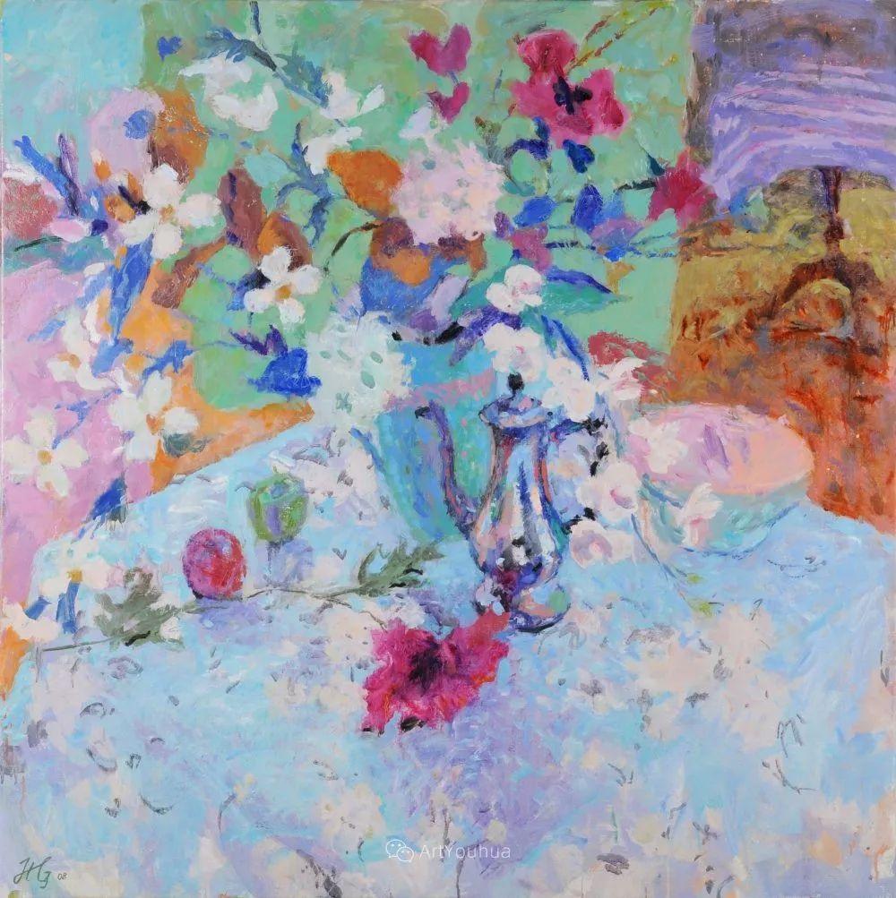 色彩和阳光的交响曲,英国著名浪漫主义画家:雨果·格伦维尔 150幅插图119