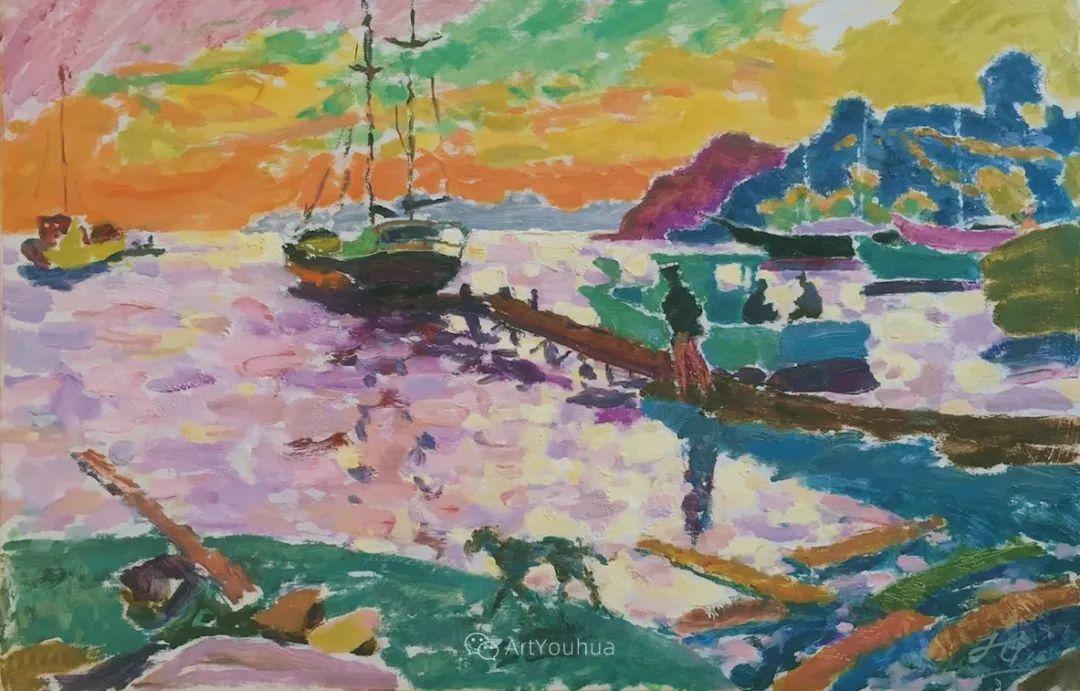 色彩和阳光的交响曲,英国著名浪漫主义画家:雨果·格伦维尔 150幅插图122