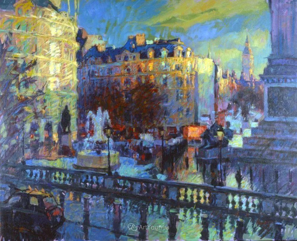 色彩和阳光的交响曲,英国著名浪漫主义画家:雨果·格伦维尔 150幅插图126