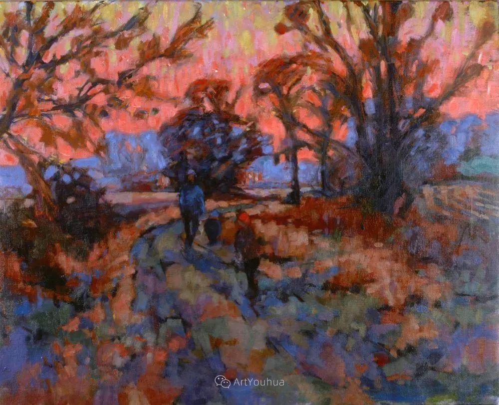 色彩和阳光的交响曲,英国著名浪漫主义画家:雨果·格伦维尔 150幅插图127