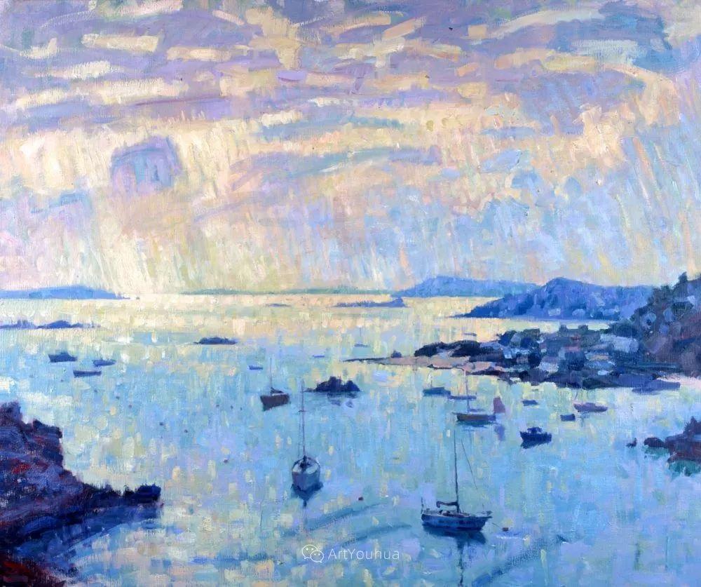 色彩和阳光的交响曲,英国著名浪漫主义画家:雨果·格伦维尔 150幅插图128