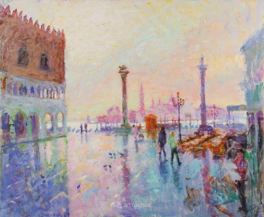 色彩和阳光的交响曲,英国著名浪漫主义画家:雨果·格伦维尔 150幅插图129