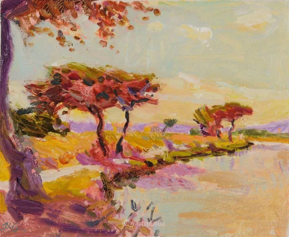 色彩和阳光的交响曲,英国著名浪漫主义画家:雨果·格伦维尔 150幅插图130