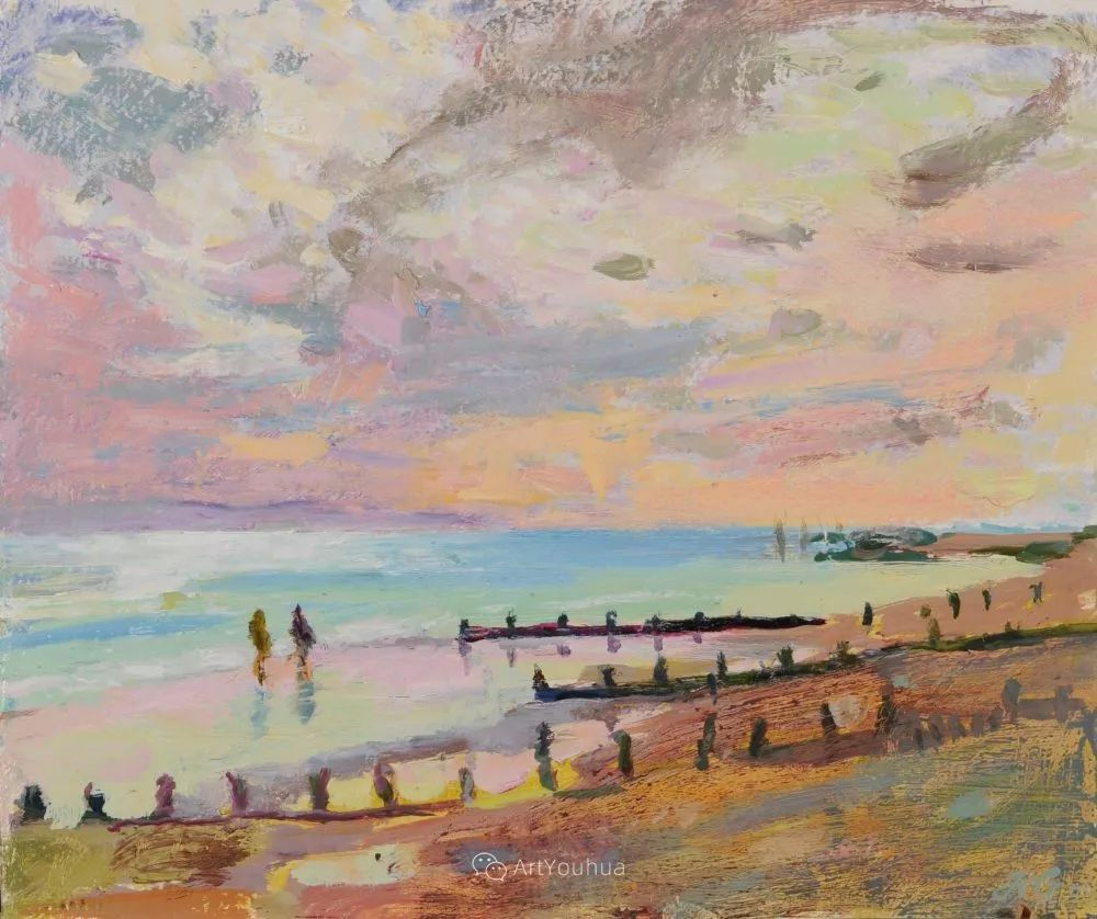 色彩和阳光的交响曲,英国著名浪漫主义画家:雨果·格伦维尔 150幅插图131