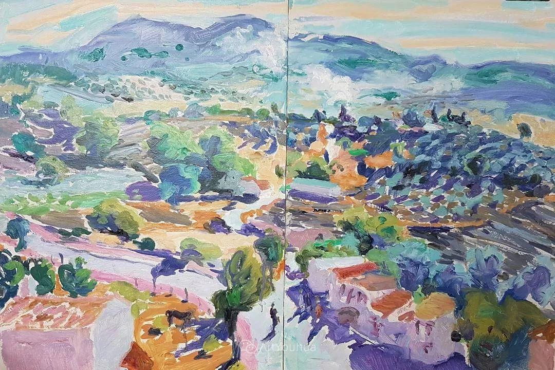 色彩和阳光的交响曲,英国著名浪漫主义画家:雨果·格伦维尔 150幅插图134