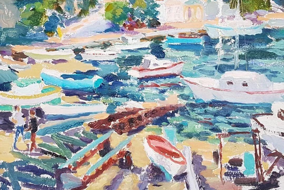 色彩和阳光的交响曲,英国著名浪漫主义画家:雨果·格伦维尔 150幅插图135