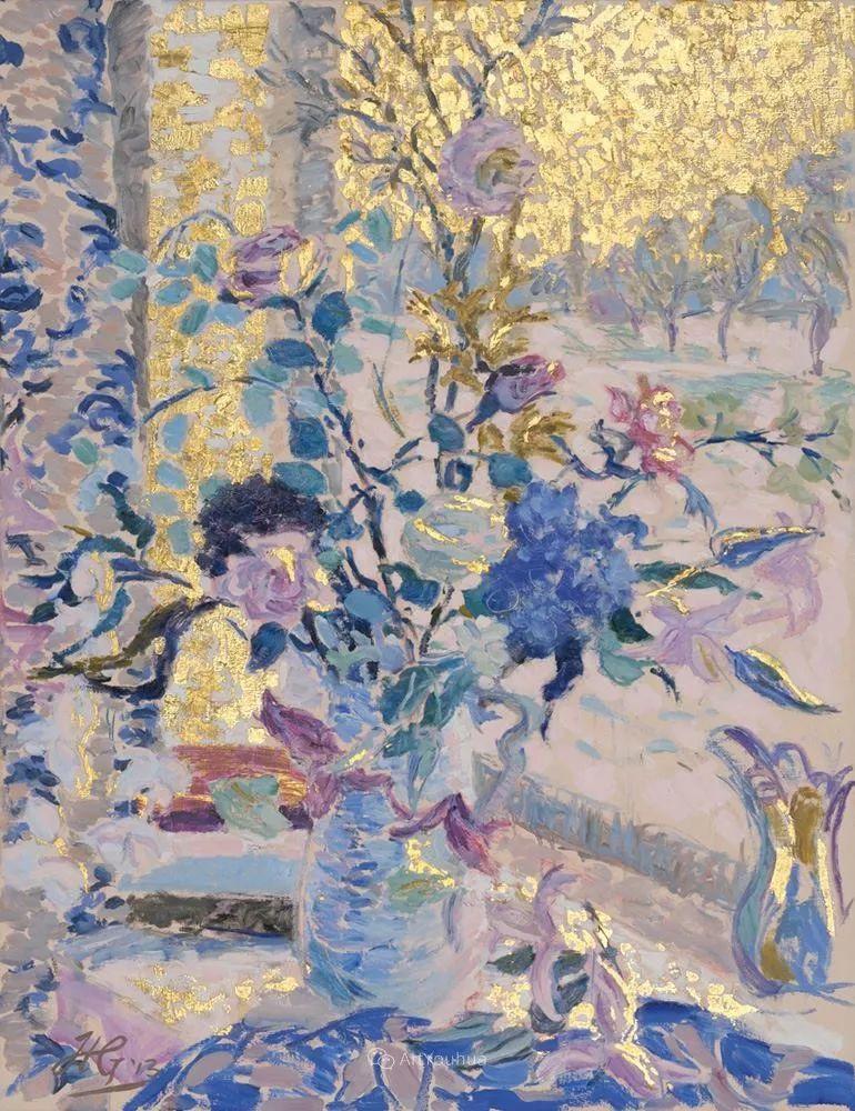色彩和阳光的交响曲,英国著名浪漫主义画家:雨果·格伦维尔 150幅插图136
