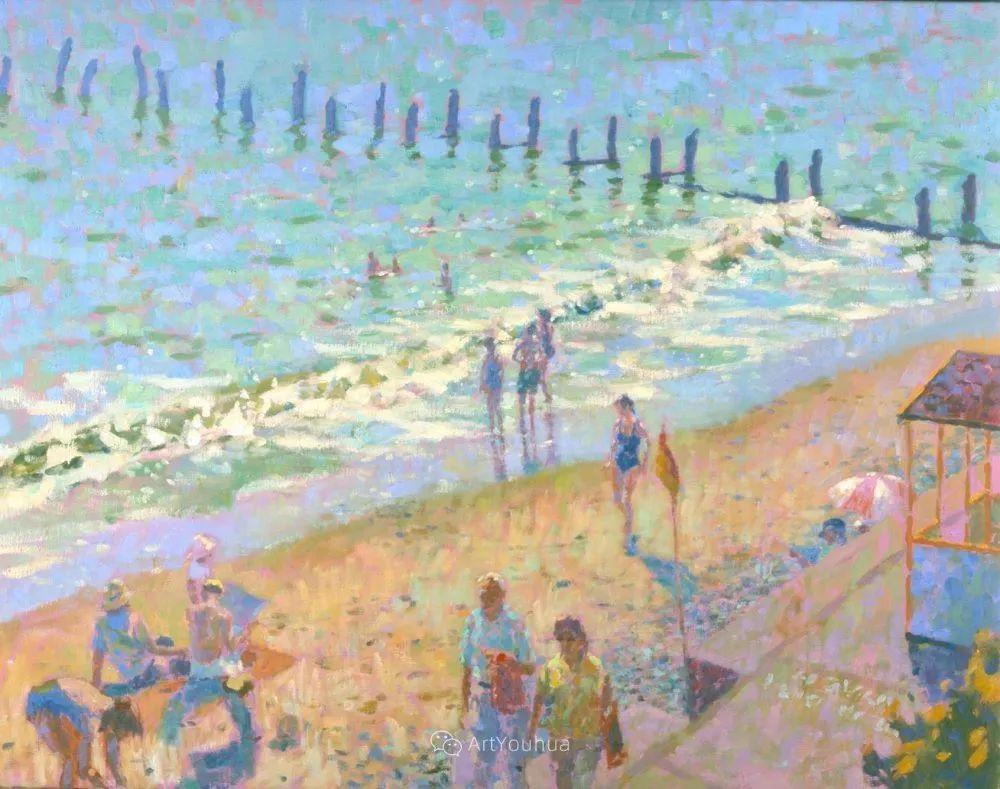 色彩和阳光的交响曲,英国著名浪漫主义画家:雨果·格伦维尔 150幅插图137