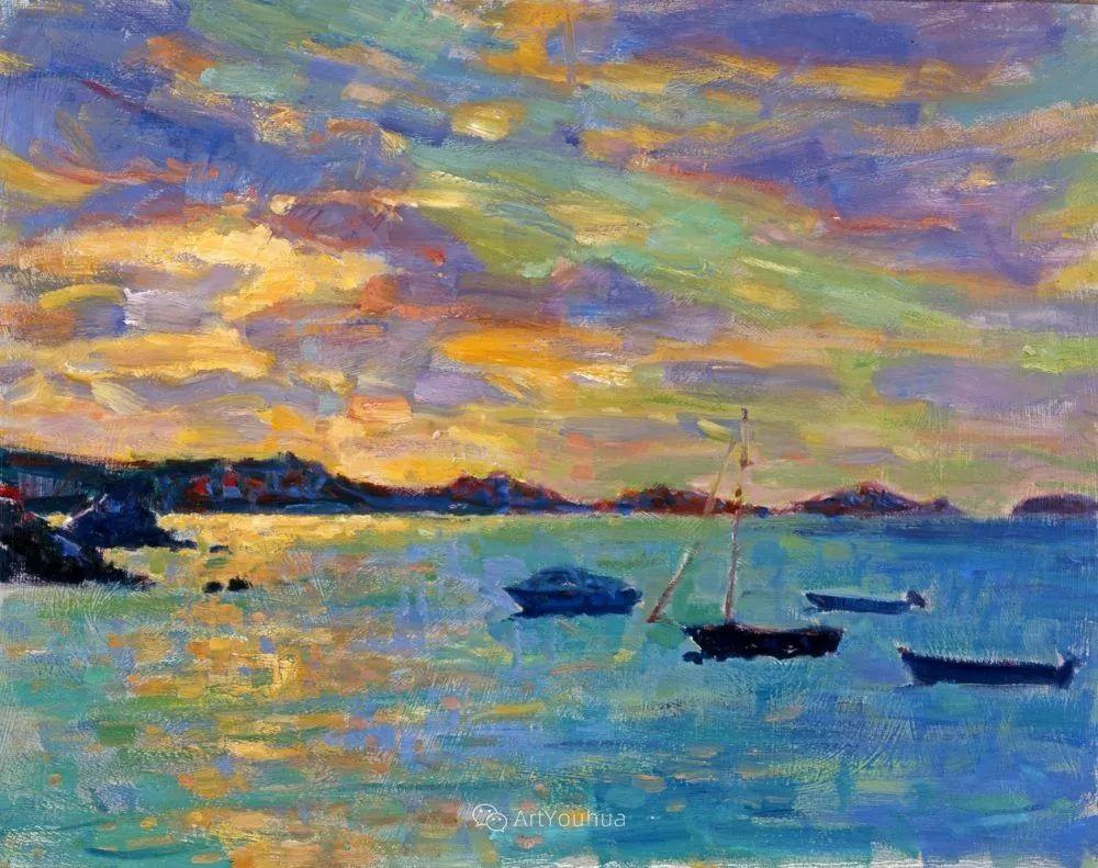 色彩和阳光的交响曲,英国著名浪漫主义画家:雨果·格伦维尔 150幅插图139