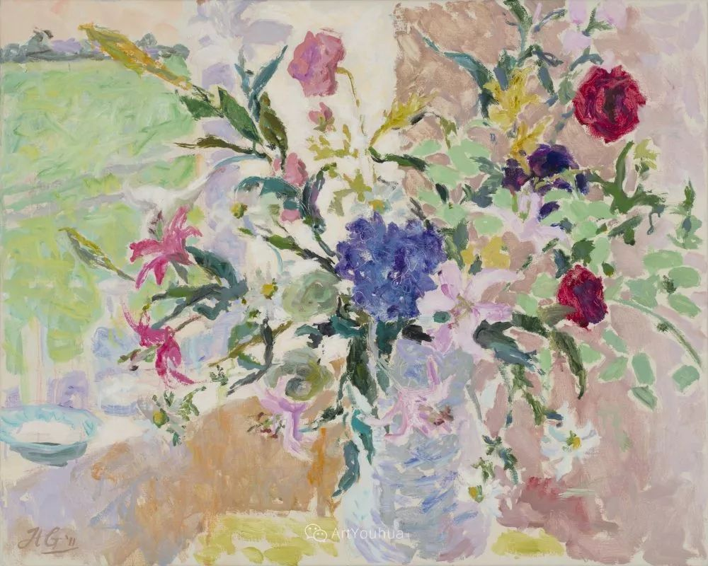 色彩和阳光的交响曲,英国著名浪漫主义画家:雨果·格伦维尔 150幅插图142