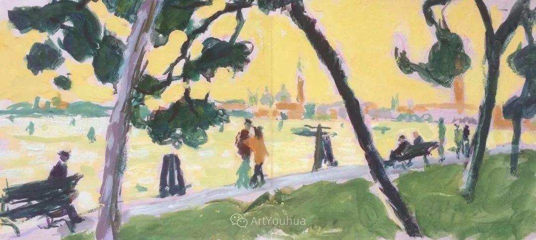 色彩和阳光的交响曲,英国著名浪漫主义画家:雨果·格伦维尔 150幅插图146