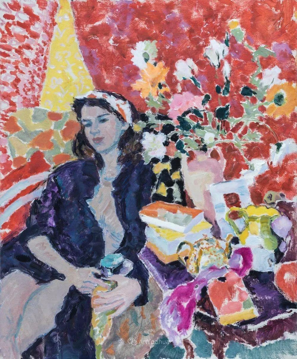 色彩和阳光的交响曲,英国著名浪漫主义画家:雨果·格伦维尔 150幅插图147