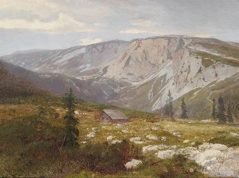 山地景观,奥地利艺术家:康拉德·佩特里德斯 (1864-1944)插图25