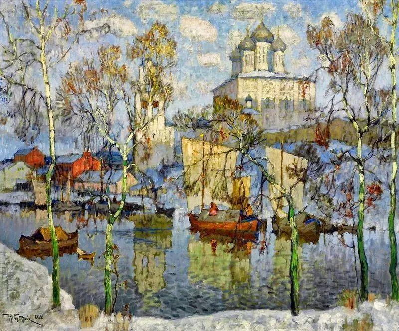 色彩斑斓的浪漫与幻想,充满诗意之美,俄罗斯艺术家戈尔巴托夫插图3
