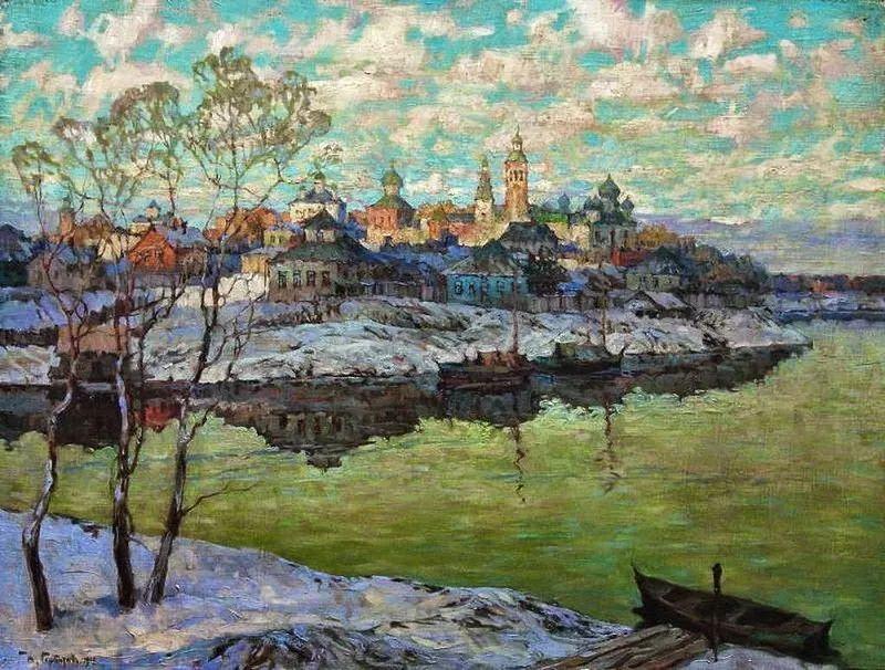 色彩斑斓的浪漫与幻想,充满诗意之美,俄罗斯艺术家戈尔巴托夫插图13