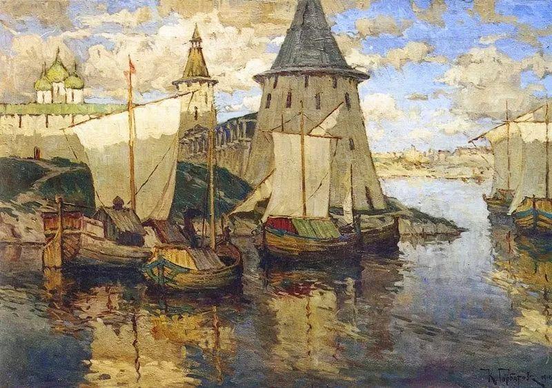 色彩斑斓的浪漫与幻想,充满诗意之美,俄罗斯艺术家戈尔巴托夫插图25