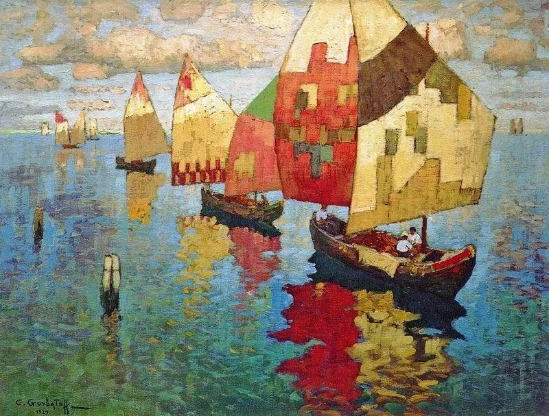 色彩斑斓的浪漫与幻想,充满诗意之美,俄罗斯艺术家戈尔巴托夫插图41