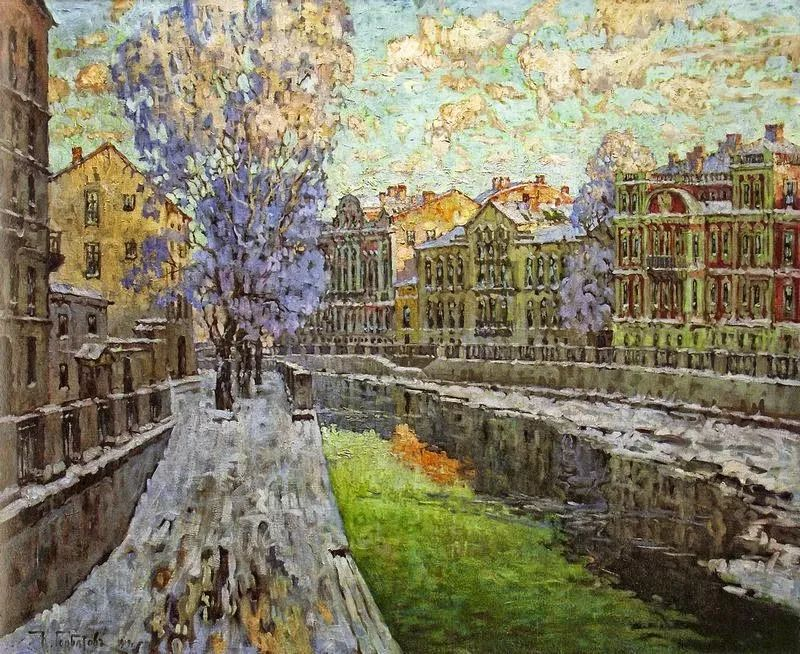 色彩斑斓的浪漫与幻想,充满诗意之美,俄罗斯艺术家戈尔巴托夫插图63