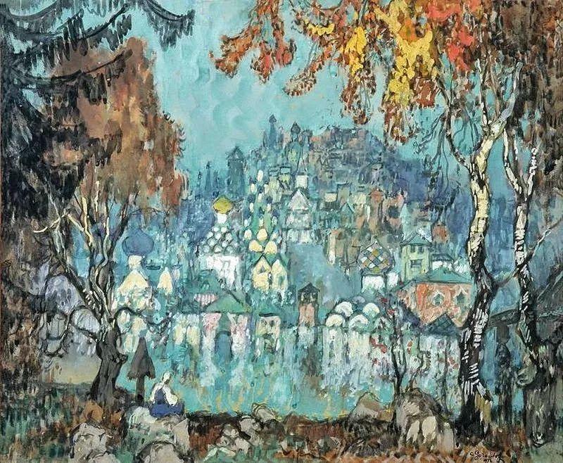 色彩斑斓的浪漫与幻想,充满诗意之美,俄罗斯艺术家戈尔巴托夫插图69