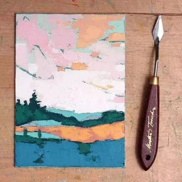一把刮刀提炼出的大自然色彩,美国画家杰西卡·菲尔兹插图2
