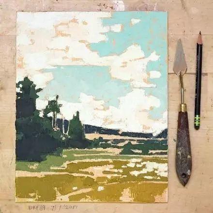一把刮刀提炼出的大自然色彩,美国画家杰西卡·菲尔兹插图3