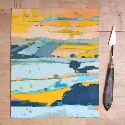 一把刮刀提炼出的大自然色彩,美国画家杰西卡·菲尔兹插图4