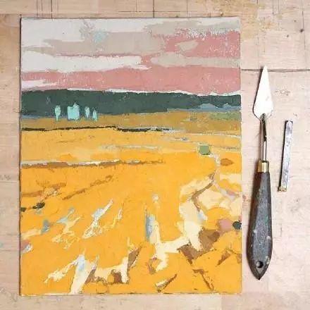 一把刮刀提炼出的大自然色彩,美国画家杰西卡·菲尔兹插图5