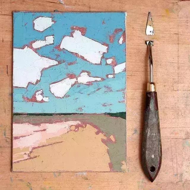 一把刮刀提炼出的大自然色彩,美国画家杰西卡·菲尔兹插图6