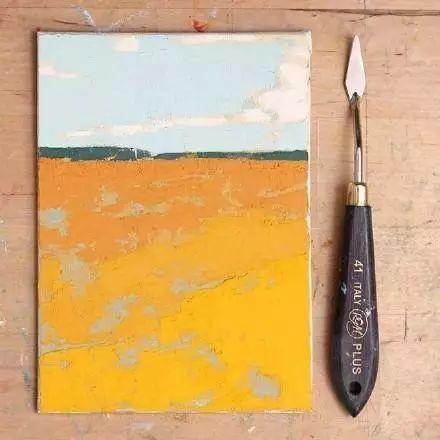 一把刮刀提炼出的大自然色彩,美国画家杰西卡·菲尔兹插图7