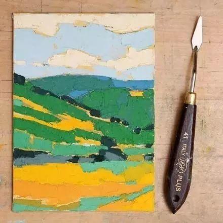 一把刮刀提炼出的大自然色彩,美国画家杰西卡·菲尔兹插图8