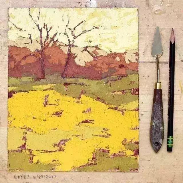 一把刮刀提炼出的大自然色彩,美国画家杰西卡·菲尔兹插图9