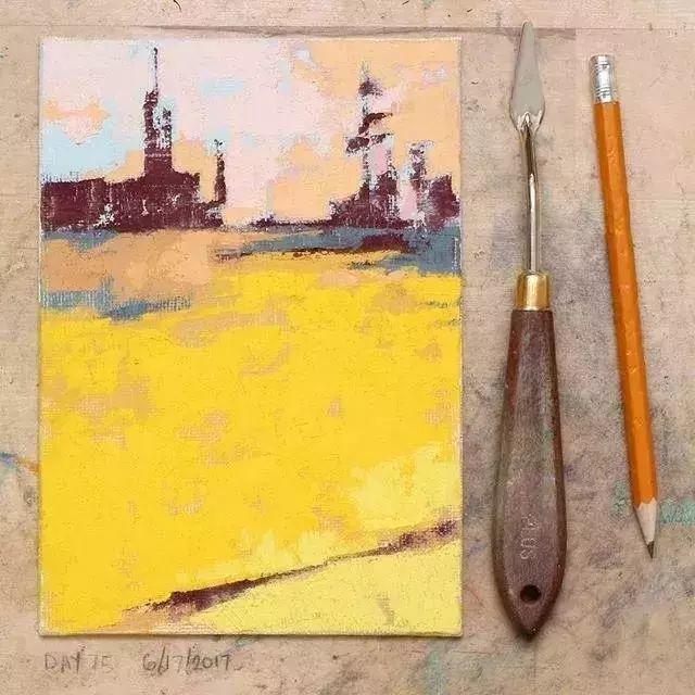 一把刮刀提炼出的大自然色彩,美国画家杰西卡·菲尔兹插图10
