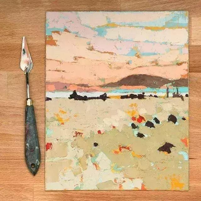 一把刮刀提炼出的大自然色彩,美国画家杰西卡·菲尔兹插图13