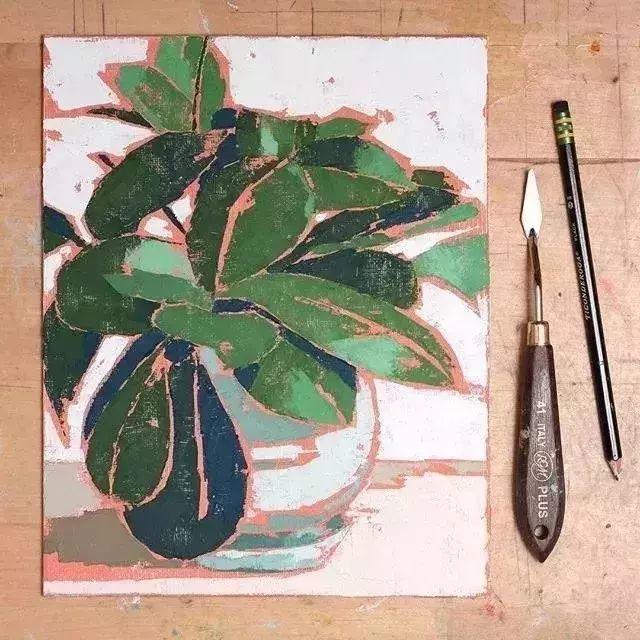 一把刮刀提炼出的大自然色彩,美国画家杰西卡·菲尔兹插图14
