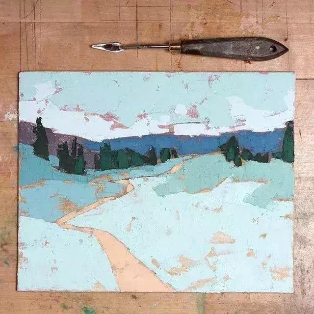 一把刮刀提炼出的大自然色彩,美国画家杰西卡·菲尔兹插图16