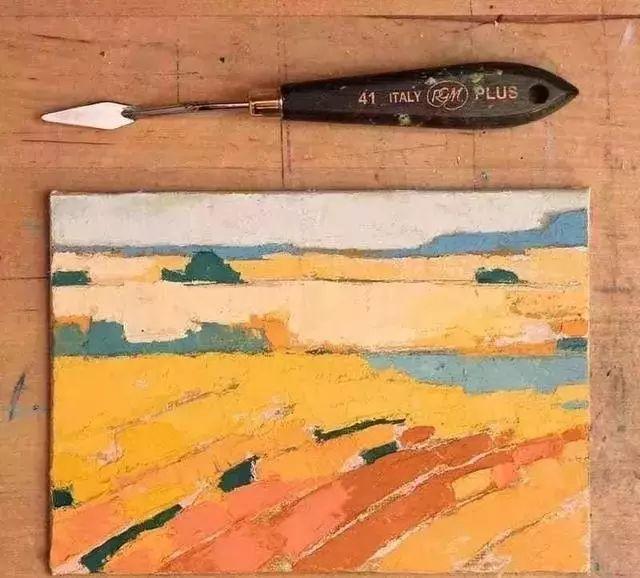 一把刮刀提炼出的大自然色彩,美国画家杰西卡·菲尔兹插图17