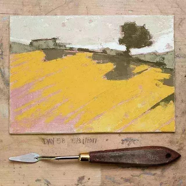 一把刮刀提炼出的大自然色彩,美国画家杰西卡·菲尔兹插图18